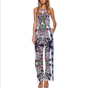 Swirling Scarf Jumpsuit in Multi